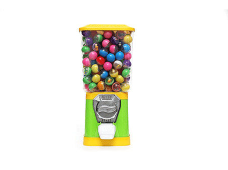 Green color 1-4coins or customized  Plastic alloy hopper Capsule Vending machines