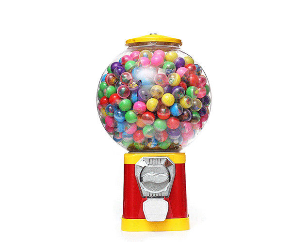 Round Self Service 30*30*50CM Vending Machine Gumball Capsule Gashapon Dispenser